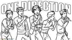 one   direction     coloring pages for girls | One Direction in Concert! Coloring Page, Wallpaper