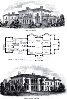 Floor plan of Highclere Castle. Hampshire, South East