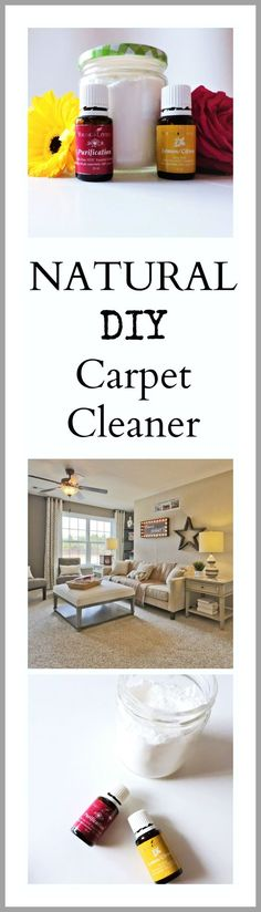 With Spring just around the corner its time to start planning your spring cleaning! This DIY Natural Carpet Cleaner is perfect for cleaning, deodorizing and ma king your carpets fresh again. With 4 simple ingredients this recipe is easy and quick to make. All you Need is baking soda, salt, Young Living lemon essential oil and Young Living purification essential oil. Happy Cleaning! Don't forget to share if you enjoyed this post!