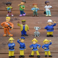 12 Pcs/Set Fireman Sam aksi angka mainan 3-6 cm Lucu Kartun PVC Boneka Untuk Anak-anak Hadiah Natal