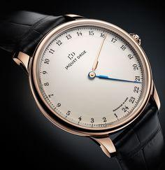 Jaquet Droz Grande Heure GMT Watch - odd watch...  it has no minute hand!