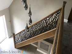 Laser cut balustrade - Frond design by Miles and Lincoln. www.milesandlincoln.com Laser Cut Screens, Laser Cut Panels, Stairways, Laser Cutting, Entryway Tables, Luxury, Architecture, Lincoln, Interior