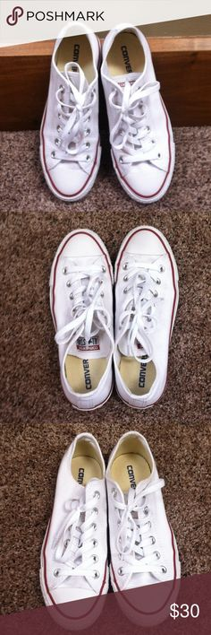 cb4d24501d Unisex White Converse Preloved Few signs of wear still lots of