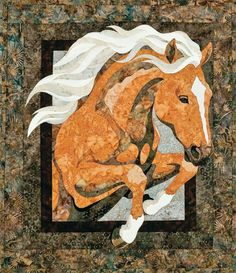 The Virginia Quilter - Quilting Patterns - Bigfork Bay Cotton Company - Royal Horse Applique Quilt Pattern