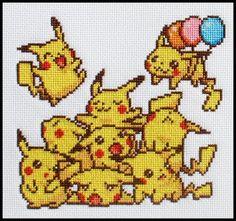 Cute sprite pikachus