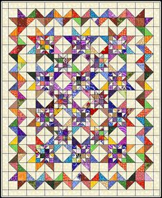 how to do crazy patchwork Scrappy Quilt Patterns, Scrappy Quilts, Free Quilt Block Patterns, Canvas Patterns, Star Quilt Blocks, Strip Quilts, Half Square Triangle Quilts, Square Quilt, Quilting Projects