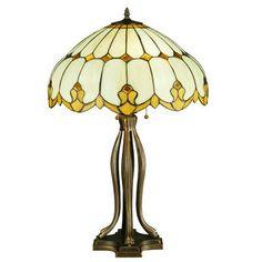 "Meyda Tiffany Greenbriar Oak Nouveau Dome 30"" Table Lamp"