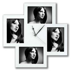 Minimalista reloj de pared en blanco y negro diseñado con tus 4 fotos más entrañables. Decora tu casa con este elegante reloj y 4 grandes recuerdos de tus amigos o familia. Una forma perfecta para disfrutar de los recuerdos mirando la hora.