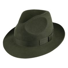 9e3c9d413736d Denton Hats Goodwood Wool Felt Fedora - Sage from Village Hats. Caps Hats,  Panama