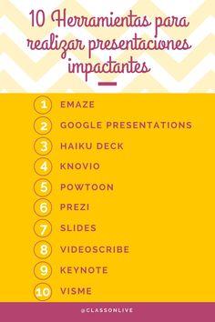 Os dejamos 10 herramientas para realizar presentaciones que cautiven a tu público y te ayuden a lograr tus objetivos