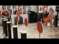 Minute to Win It: Paddle Poppers - YouTube