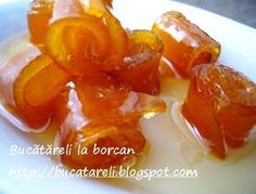 O dulceata simandicoasa: dulceata din coji de portocala. A Food, Good Food, Food And Drink, Romanian Food, Pickles, Cookie Recipes, Frozen, Sweets, Stuffed Peppers