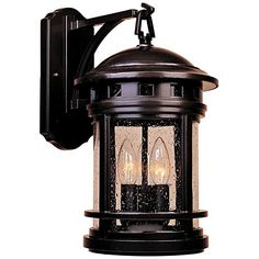 Recommended Edison nostalgic style bulbs in this oil rubbed bronze outdoor wall light add to its vintage allure. Style # at Lamps Plus. Led Outdoor Wall Lights, Outdoor Wall Lighting, Exterior Lighting, Outdoor Walls, Tiffany Style Table Lamps, Porch Wall, Front Porch, Tuscan House, Hanging Lanterns