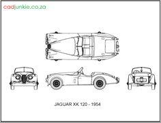 2D Vehicles: 1954 Jaguar XK120 CAD Format: AutoCAD 2013  Block Type: 4x2D Block  Units: mm Jaguar Xk120, Cad Blocks, Autocad, 2d, Classic Cars, The Unit, Type, Vehicles, Vintage Classic Cars