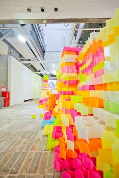 Sticky Note Structures by Tato Architects / #neon #architecture