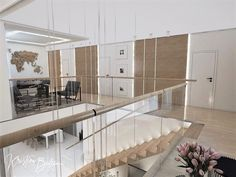 Návrh rodinného domu Rodinný dom s wellness, pohľad z galérie na chodbu prvého poschodia Divider, Furniture, Home Decor, Homemade Home Decor, Home Furnishings, Decoration Home, Arredamento, Room Screen, Interior Decorating
