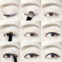 一重まぶた 奥二重まぶた 韓国アイメイク |韓国style♥ Monolid Eyes, Monolid Makeup, Diy Makeup, Asian Makeup Tips, Korean Make Up, Asian Eyes, Cute Eyes, Makeup Tattoos, Eye Make Up