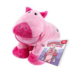 """Muddzie the piggy plush toy from Stuffies image 1 """"It's What's Inside that Counts!""""®"""
