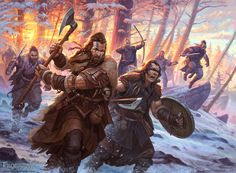 Frostgrave Barbarians, Dmitry Burmak on ArtStation at https://www.artstation.com/artwork/GJqxW