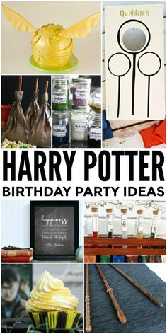 How to throw the Ultimate Harry Potter Birthday Party with these 25 fabulous Harry Potter party ideas.
