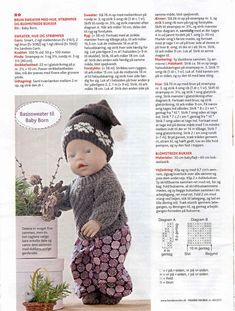 New baby born dress outfit Ideas Baby Born Clothes, Preemie Clothes, Knitting Dolls Clothes, Girl Doll Clothes, Doll Clothes Patterns, Barbie Clothes, Knitted Doll Patterns, Knitted Dolls, Baby Knitting