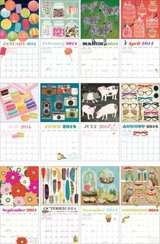 2014 Paper Source Art Grid Calendar