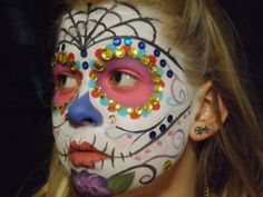 Hope Shots Photography Artist Unique Irish Model Sweet C. Sugar Skull Face painting