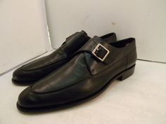 BALLY MONK STRAP SHOES SWITZERLAND LOAFERS  BLACK MEN'S SZ 10.5 FITS 11 #Bally #LoafersSlipOns