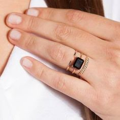 black onyx ring women - Google Search