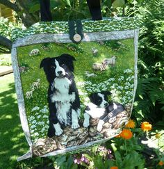 Border Collie Tote Bag by SimJaTa on Etsy, £6.50