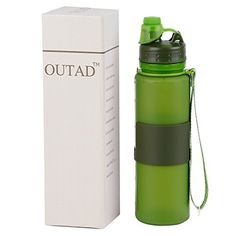 OUTAD Foldable Collapsible Water Bottle 22 Ounce With Leak Proof Twist Cap BPA Free * You can get additional details at the image link.(This is an Amazon affiliate link and I receive a commission for the sales)