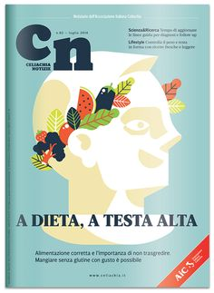 Celiachia Notizie [cover] by Marco Goran Romano, via Behance