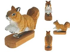 Vivid Handmade Wood Carving Cartoon Mini Animal Stapler for School Office Stationery Children Christmas Gift (Squirrel) - Real Time - Diet, Exercise, Fitness, Finance You for Healthy articles ideas Christmas Gifts For Kids, Gifts For Teens, Best Friend Gifts, Gifts For Friends, Shopping World, Shopping Stores, Online Shopping, Working Wall, Office Stationery