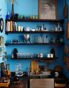 kitchen - colour - shelving - Seth Smoot
