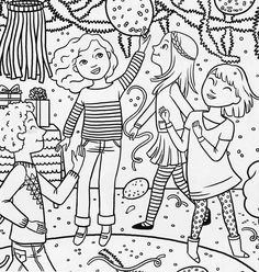 bonggamom finds american girl magazine special birthday coloring page