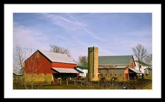 Amish Barns Framed Print By Bonfire #Photography