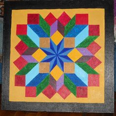 new hand painted barn quilt by deb from barnquiltsbydeborah.com