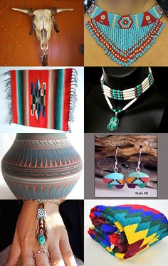 Southwestern Style by  Rebecca Turner from BeccasBeadedCreation          --Pinned with TreasuryPin.com