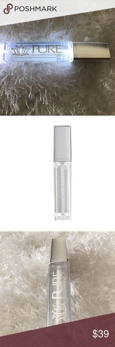EXTRA STRENGTH LIP PLUMPER Clear lip plumper in a unique light-up applicator tube with a mirror! By Pure Cosmetics, this is a physician-formulated plumper for achieving sensually plump and fuller lips. Made with niacin and retinol. (Stock photo shows older packaging design.) Pure Cosmetics Makeup Lip Balm & Gloss