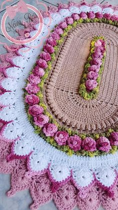 Large oval crochet doily Cream and beige cotton doily Textured doily Table centerpiece Anniversary gift Housewarming gift Mother's Day gift Crochet Mandala, Crochet Doilies, Crochet Flowers, Crochet Stitches, Crochet Patterns, Crochet Home, Crochet Baby, Baby Girl Dress Patterns, Crochet Dishcloths
