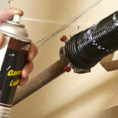 Garage Door Spring and Cable Repair (Project with steps) Garage Door Spring Replacement, Garage Door Spring Repair, Garage Door Repair, Garage Door Opener, Overhead Garage Door, Garage Doors, Broken Garage Door Spring, Garage Steps, Garage Door Maintenance
