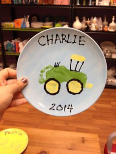 Footprint tractor plate - a great gift or keepsake!