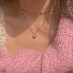 Stylish Jewelry, Cute Jewelry, Jewelry Accessories, Fashion Jewelry, Accesorios Casual, Cute Necklace, Pink Aesthetic, Aesthetic Body, Girly