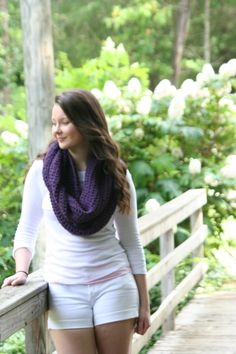 Girls Scarves for 2014 Winter - Infinity Scarf Crochet Infinity Cowl Scarf