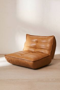 Greta Recycled Leather Lounge Chair - Expolore the best and the special ideas about Lounge chairs Leather Lounge, Leather Sofa, Leather Chairs, Leather Bean Bag Chair, Leather Recliner Chair, Brown Leather, Furniture For You, Cool Furniture, Futuristic Furniture