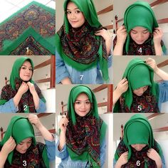 How To Wear Square Scarf – HijabTutorial
