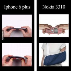 Iphone 6 vs Nokia 3310 Bend Test