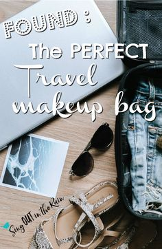 Organization when traveling is so helpful! Looking for the best travel makeup bag to get and use as an organizer often seems like an elusive chore - but I found it!!!  The amazingness of this case is going to blow your mind!  #makeup #travel #makeupbag #travelbeauty #travelmakeup