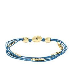 #Fossil Dainty Wrist Wrap - Blue