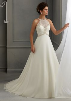 Bridal Dress From Blu By Mori Lee Dress Style 5264 Crystal Beaded Embroidery on…